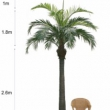 Large Replica Coconut Tree Artificial