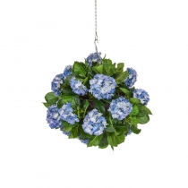 Artificial Hanging Basket  Hydrangea Blue Ball 25cm ASCTL2147 (1)