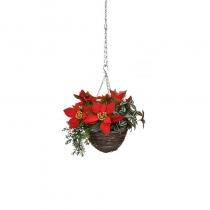 Artificial Christmas Hanging Basket 25cm ASCTL1420 (1)