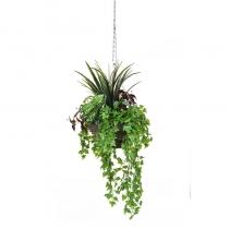 Artificial Hanging Basket  Foliage Mixed 30cm ASCTL1417 (1)