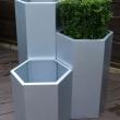 External Planters Alu Zinc Hexagonal 2