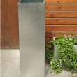 External Planters Galvanised Tall Square 4