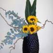 Sunflower vase display