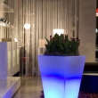 Tall Tapered Illuminated planter with LED lights 3