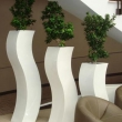 Synthetic Planter Tall Curvy 13